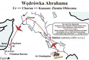 Ta mapa przedstawia wędrówkę Abrahama